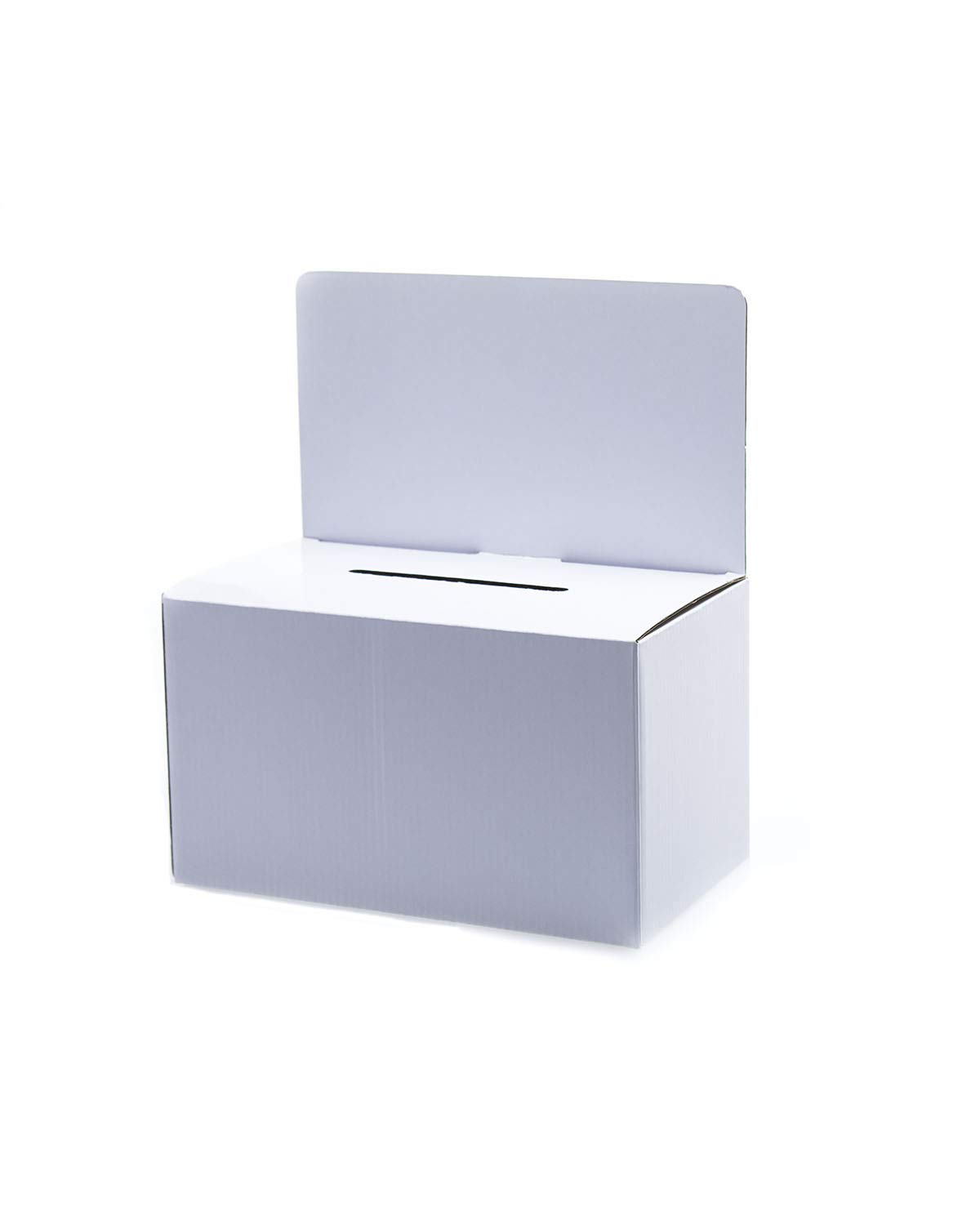 Source One Deluxe Cardboard Donation Box, Pack of 10, Lightweight & Customizable (Medium, White) by SOURCEONE.ORG