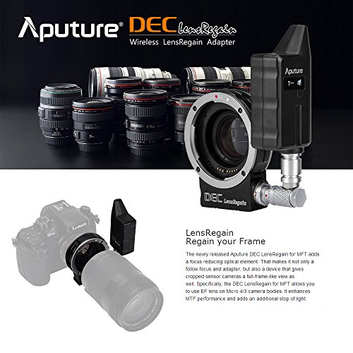 Aputure DEC LensRegain Canon EF to Micro Four Thirds Lens Mount Adapter  Featurs 0 75X Magnification Super 35mm View - A Focal Reducer, Lens  Adapter,