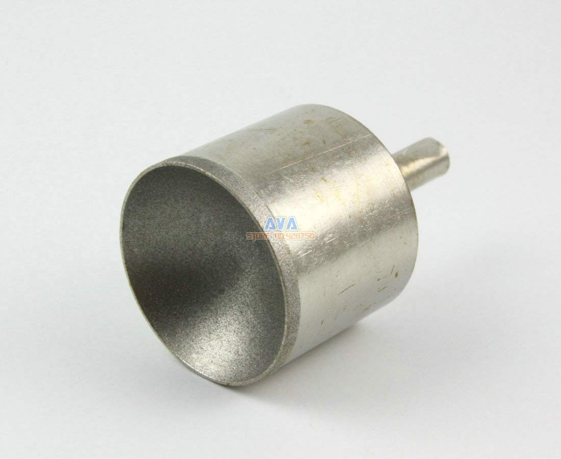 Maslin 2 Pcs 30mm Diamond Mounted Point Spherical Concave Head Grinding Bit Grit 600