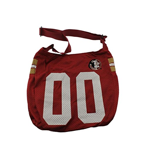 Authentic Discount Handbags (Get Ready Girls Womens Florida State Seminoles Printed Hobo Handbag Red Large)