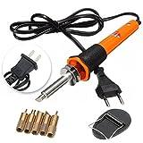 Soldering Tools - 7 Pcs Profesional Soldering Iron Pen Kit Wood Burning Burner Set With Brass Tips - (Adaptor: US Plug)