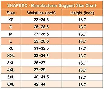 SHAPERX Womens Latex Colombian Waist Trainer Corset Long Torso Weight Loss 3 Hook