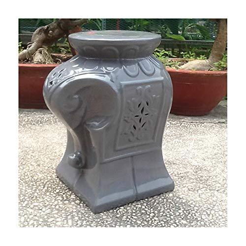 International Caravan Cataline Wild Elephant Ceramic Garden Stool
