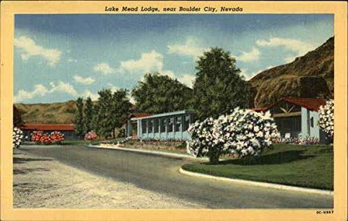 Lake Mead Lodge Boulder City, Nevada Original Vintage Postcard