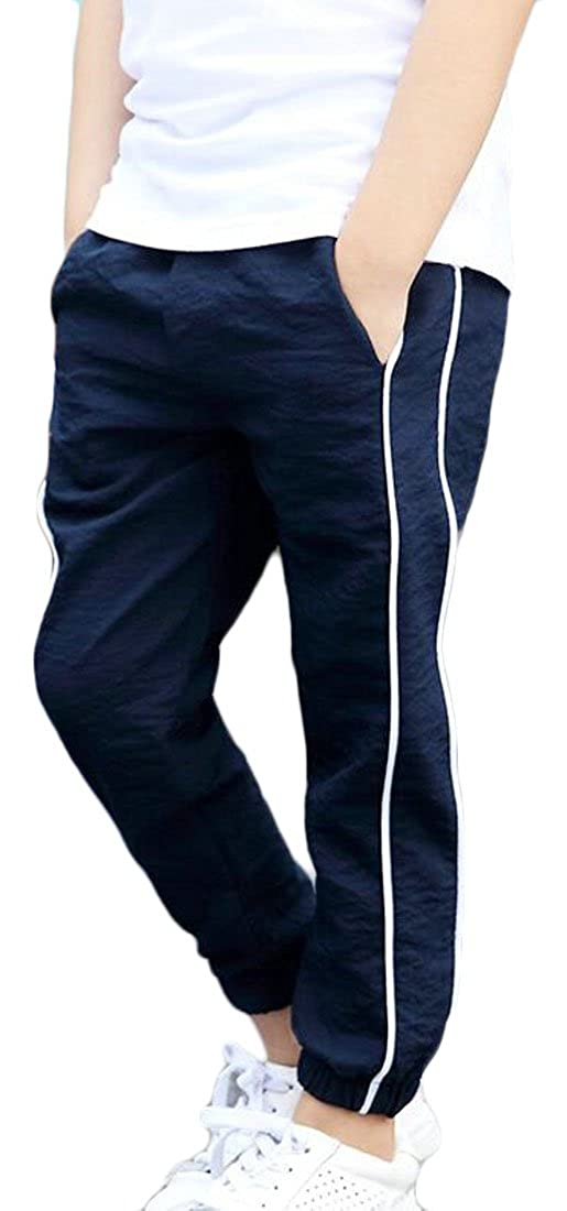 Lutratocro Boys Ankle Length Casual Jogger Pants Summer Comfort Elastic Wasit Pants