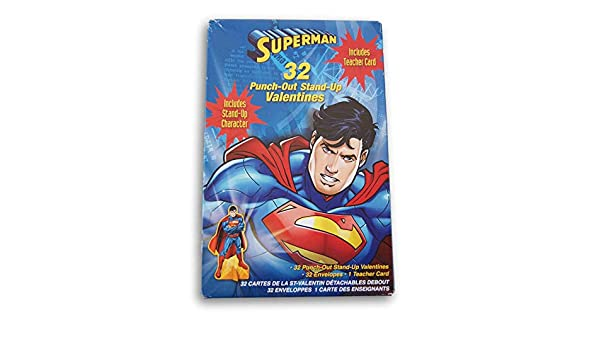 Man of Steel Superman ~ 32 Valentines Day Cards with 35 Tattoos by Paper Magic