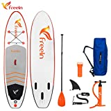 "Freein 10'2'' All Round ISUP Inflatable Stand up Paddle Board 31"" Wide 6"""