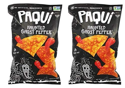 (Paqui Tortilla Chips, Haunted Ghost Pepper, 5.5 Ounce (Haunted Ghost Pepper, 2 Pack))