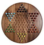 Walnut Chinese Checkers Board Game