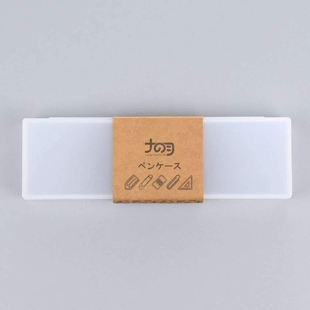Morza /Étudiant Mignon PP Transparent en Plastique Trousse Belle Pen Box pour Les Enfants Bureau Cadeau Fournitures Scolaires