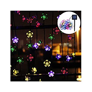 PeterIvan Solar String Lights - 20ft 50 LED Waterproof Solar Garden Lights for Indoor & Outdoor Decoration, Solar Powered Blossom Flowers String Lights for Garden and Patio