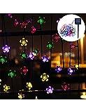 Solar string Lights-Salor Garden Lights With 50 Flower LED Lights For Garden Decoration, Multi-color Festival, Christmas Party Atmosphere Solar Fairy Lights