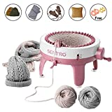 Knitting Machine, Smart Weaving Loom Knitting Round Loom, Knitting Board Rotating Double Knit Loom Machine, 40 Needles...