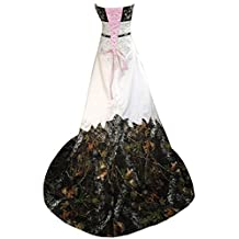Oumans Inexpensive Camo Wedding Dress Prom Gown Strapless Embroidery