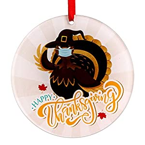 Best Epic Trends 51i-9akItAL._SS300_ WaaHome Happy Thanksgiving Ornaments 3'' Turkey Christmas Tree Ornaments Decorations, Thanksgiving Gifts for Family…