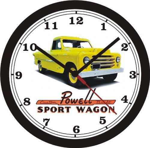 Clock Powell (POWELL SPORT WAGON PICKUP WALL CLOCK-Free USA Ship)