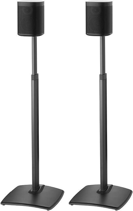 Sanus Höhe Verstellbare Lautsprecher Ständer In Kabellos Paar Für Sonos One Play 1 Und Play 3 Schwarz Audio Hifi
