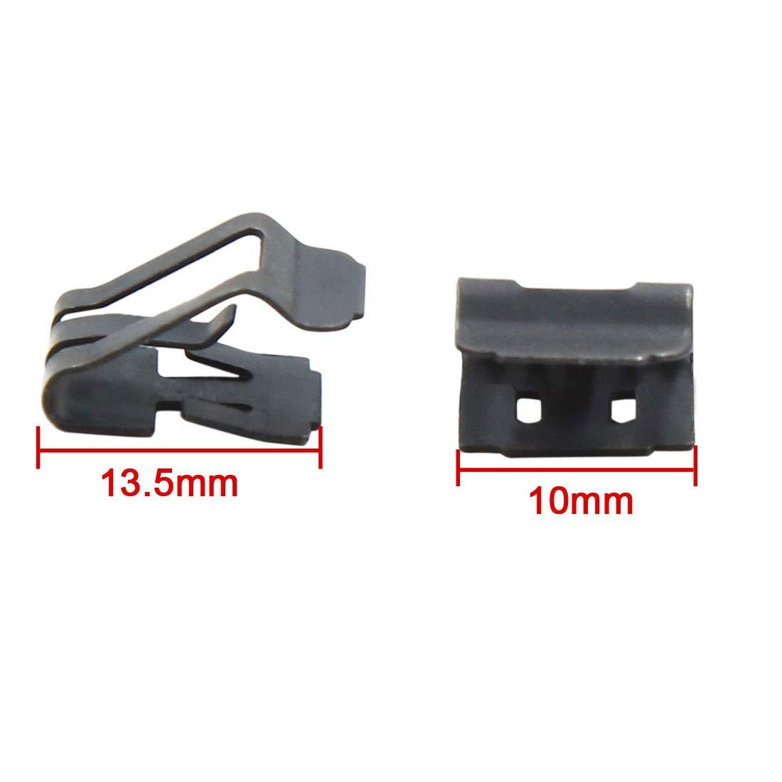 X AUTOHAUX 10pcs Console Retainers Car Instrument Clip Fastener 10mm x 13.5mm