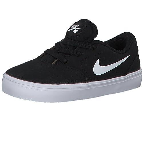 0fc4fc08767be Nike SB Check Cnvs (TD) Zapatillas Niños Negro  Amazon.es  Zapatos y  complementos