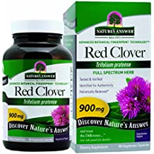 Nature's Answer Red Clover Top Vegetarian Capsules, 90-Count