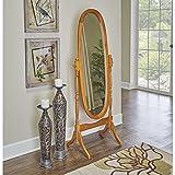 Small Oak Bathroom Floor Cabinet Oh! Home Parker Oak Cheval Mirror