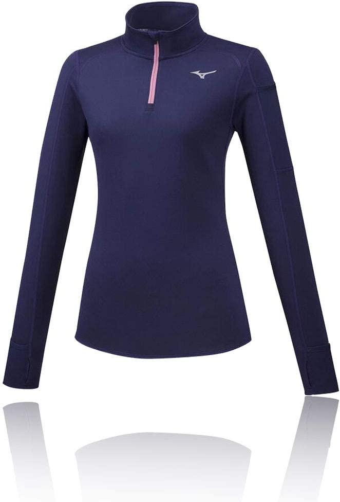 Mizuno Womens Vortex Warmlite Longsleeve Lila Rosa Shirts