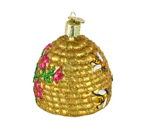 Old World Christmas Ornaments: Bee Skep Glass Blown Ornaments for Christmas Tree by Old World Christmas (Image #6)