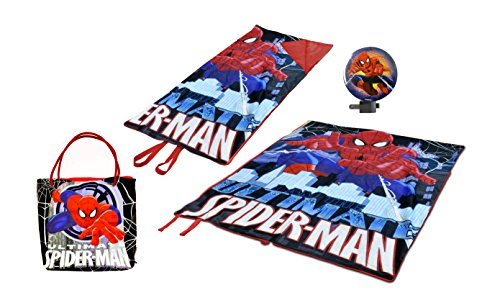 Marvel Spider Man Mini Slumber Tote with Night Light (3 Piece) by Marvel