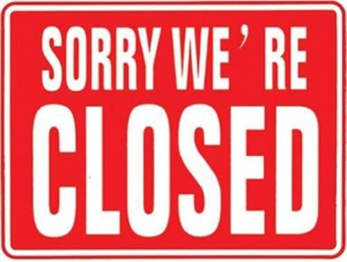 Cartel restaurante Negocios somos abierto/cerrado Inglés ...