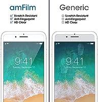 776e2cfa179 amFilm Glass Screen Protector for iPhone 8 Plus, 7 Plus, 6S Plus, 6.  Loading Images.