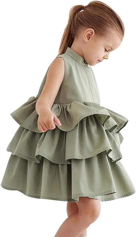 Riou_Vestido de niña, Vestidos para Bebés Ropa Falda Princesa de ...