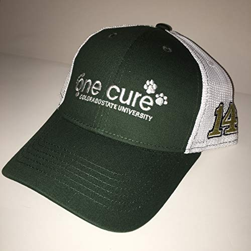 2018 Clint Bowyer ONE CURE Colorado St Rams Stewart Haas Ford Nascar Pit Crew Hat Cap NCAA Football