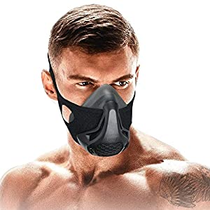 SATKULL Training Mask,24 Breathing Resistance Levels Fitness Mask Workout Mask,Training in High Altitude Mask Gym Mask…