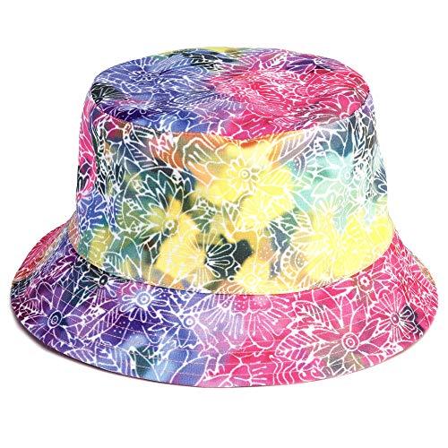 (Laurel Burch Rainbow Batik Print Reversible Bucket Hat)