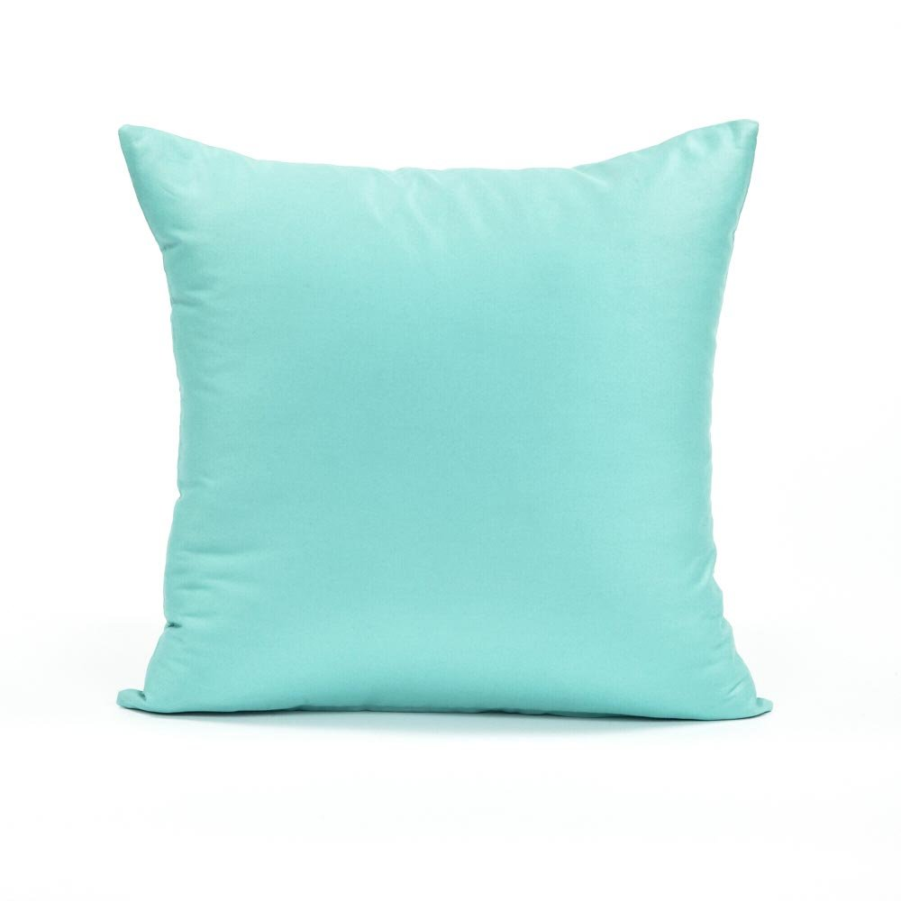 amazoncom  x  solid teal throw pillow cover home  kitchen -
