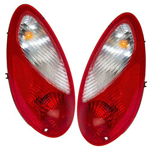 Taillights Tail Lamps Driver and Passenger Replacements for 06-10 Chrysler PT Cruiser 5116223AB 5116222AB ()