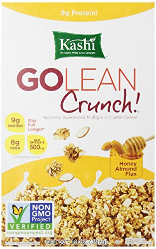 Kashi Honey Almond Flax GOLEAN Crunch Cereal, 14 oz (Fiber High Cereal Cereal Kashi)