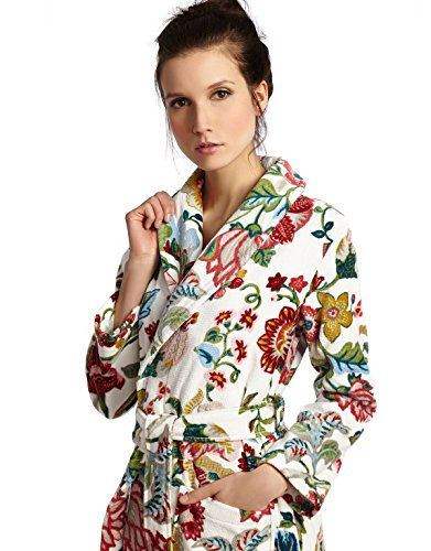 Cinderella-Long-Womens-Terry-Cotton-Bath-Robe-Toweling-With-Belt-Floral