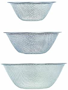 Sori Yanagi Strainer - 16cm ? 19cm ? 23cm Punching 3pcs 311330] (Japan Import)