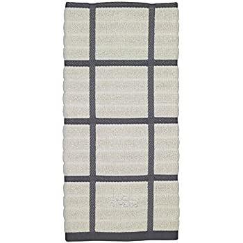 This Item All Clad Textiles 100 Percent Combed Terry Loop Cotton Kitchen  Towel, Oversized, Highly Absorbent And Anti Microbial, 17 Inch By 30 Inch,  Checked, ...