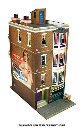O gauge 7mm 1:48 scale Model Railroad Building APARTMENT BUILDING Kit The CityBuilder
