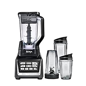 Nutri Ninja Personal and Countertop Blender with 1200-Watt Auto-iQ Base, 72-Ounce Pitcher, and 18, 24, and 32-Ounce Cups with Spout Lids (BL642)