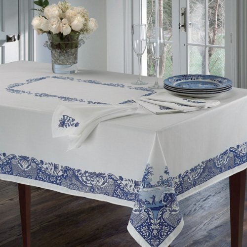 Spode Blue Italian Tablecloth 60'' X 102'' by Spode
