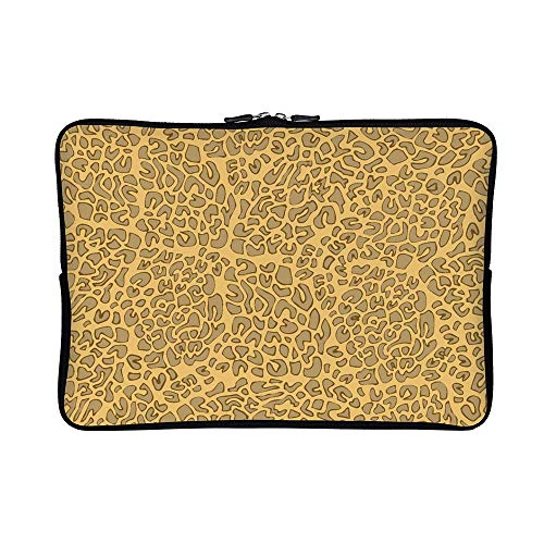 DKISEE Abstract Leopard Print Neoprene Laptop Sleeve Case Waterproof Sleeve Case Cover Bag 13 inch for MacBook/Notebook/Ultrabook/Chromebooks