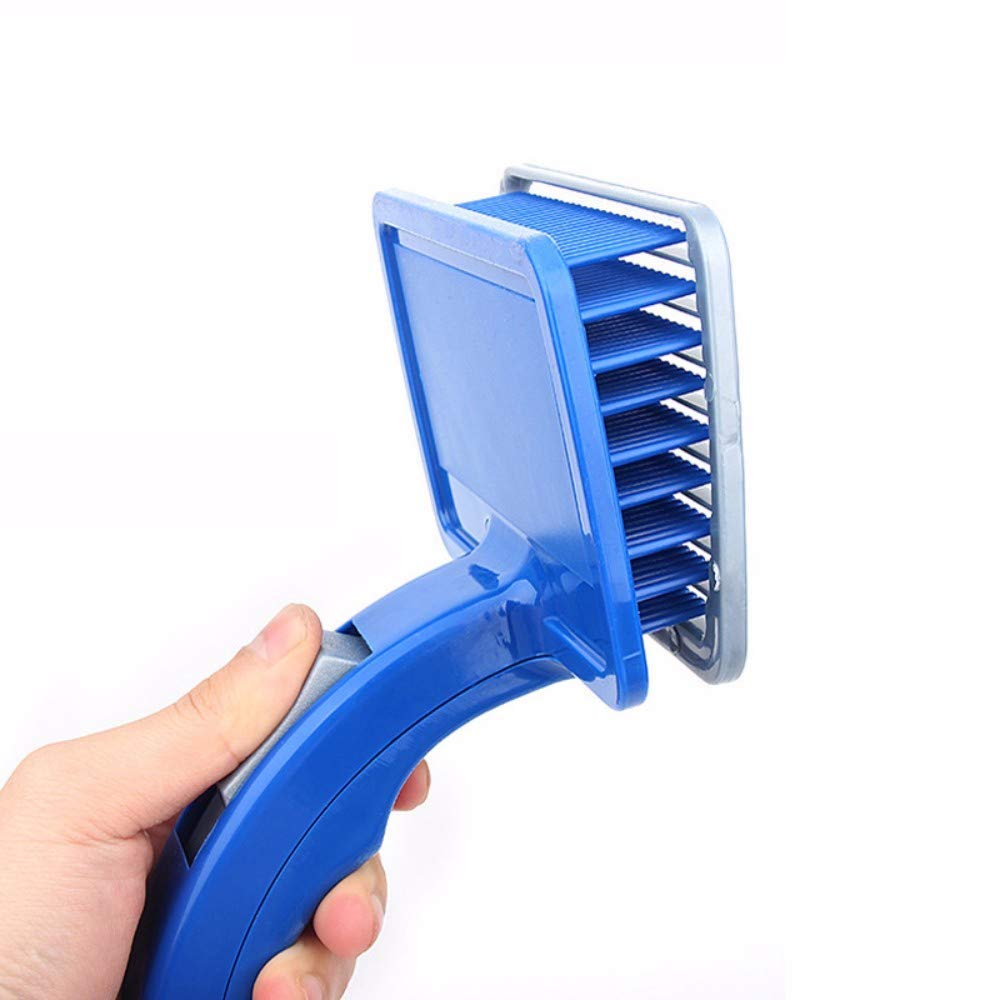 WRYCN Multifunctional Portable Pet Hair Removal Comb,Plastic Automatic Comb Pet Supplies, Cleaning Hair Removal Combing Fleas Improve Hair Appearance