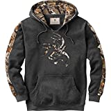 Legendary Whitetails Men's Camo Outfitter Hoodie (Charcoal Heather, XXXX-Large)