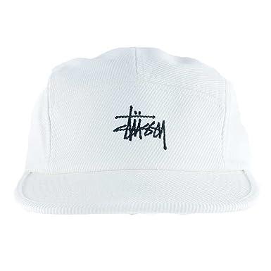 606db40e817 Stussy Basic Logo Camp Cap Hat Off White  Amazon.co.uk  Clothing