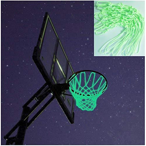 Captank Basketball Hoop Net Glow in The Dark Outdoor Sports Nylon Glowing Basketball Hoop Rim Net All Weather Thick Replacement Standard Size Net ()