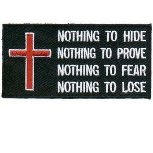 Nothing Patch Embroidered Cool Christian Biker Patch!!! by heygidday