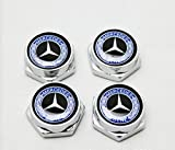 4 Pcs Separate Chrome LICENSE PLATE FRAME Bolt Screws For Mercedes Benz Series